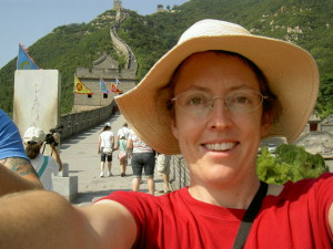 "the obligatory, ""I'm at the Great Wall"" selfie"